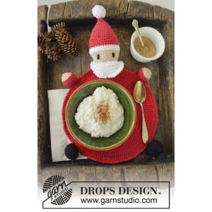 Brunch with Santa by DROPS Design - Crochet Placemat Pattern 22 cm