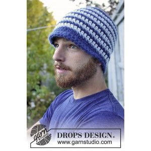 Daniel by DROPS Design - Crochet Hat for Men Pattern size 3 years - XL