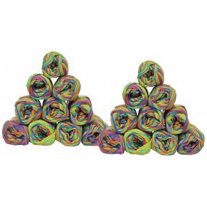 Mayflower Cotton 8/4 20 Ball Colour Pack Print 1501 Rainbow