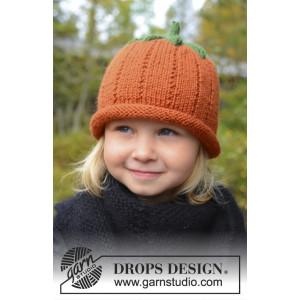 Sweet Pumpkin by DROPS Design - Knitted Pumpkin for Halloween Pattern size 0/6 months - 7/8 years