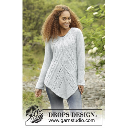 fed24668e22d Winter Flair by DROPS Design - Knitted Tunic with Cables Pattern size S -  XXXL