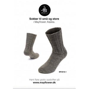 Mayflower Warm Socks - Knitted Socks Pattern size 23/24 - 43/44