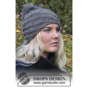 Princess Mary Hat - Chinook by DROPS Design - Knitted Hat pattern size S/M - L/XL
