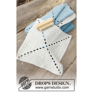 Take Care by DROPS Design - Crochet Cloth Pattern 24x24 cm