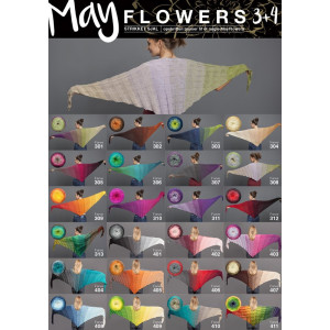 Mayflowers Knitted Shawl - Shawl Pattern