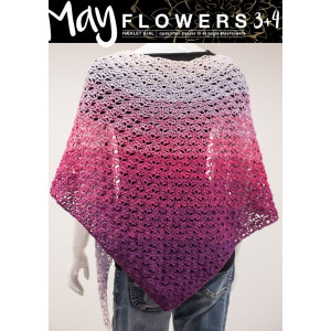 Mayflowers Crocheted Shawl - Shawl Crochet Kit