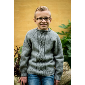 Mayflower Knitted Jumper with Cables Pattern size 4 years - 12 years