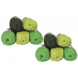 Mayflower Andes 10 Ball Colour Pack Green/Lime - 10 pcs
