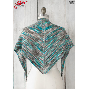 Alegria Shadow Shawl - Shawl Pattern 135x45cm
