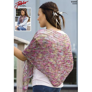 Triangle Knitted Shawl Pattern 175x45cm