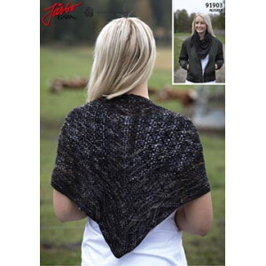 Theodora knitted Shawl Pattern 110x53cm
