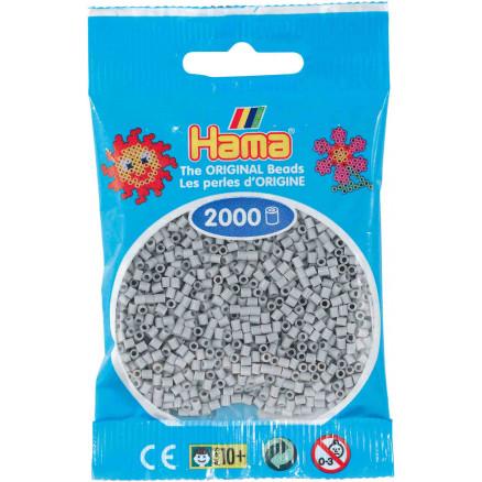 Pack of 2000 Hama MINI Beads 501-17 Grey