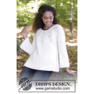 Nineveh Jumper by DROPS Design - Knitted Jumper with Lace Pattern size S - XXXL