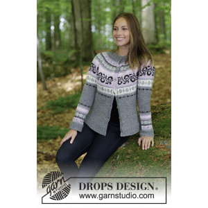 Telemark Jacket by DROPS Design - Knitted Jacket with Norwegian Pattern size S - XXXL