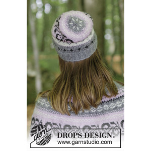 Telemark Hat by DROPS Design - Knitted Hat with Norwegian Pattern size S/M
