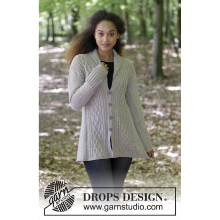 Morgans Daughter Jacket By Drops Design Knitted Jacket With