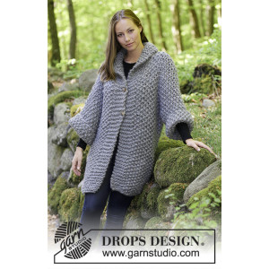 The Grove by DROPS Design - Knitted Jacket in Moss Stitch Pattern size S - XXXL