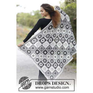 Margarita by DROPS Design - Blanket with Crochet Squares Pattern 140x96 cm