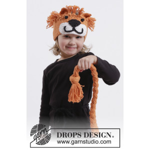 Nala by DROPS Design - Crochet Lion Head Band and Plaited Lion Tail Pattern size 1/2 years - 9/10 years