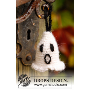 Casper by DROPS Design - Crochet Halloween Ghost Pattern 4 cm