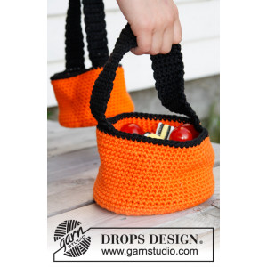 Trick or Treat! by DROPS Design - Crochet Basket for Halloween Pattern