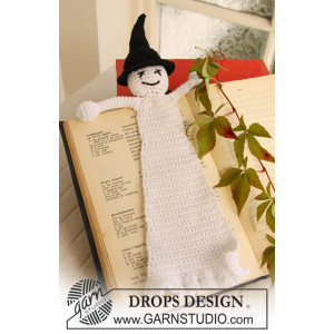 Scary Tales by DROPS Design - Crochet Halloween Book Mark with Ghost Pattern