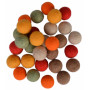 Felt Balls Wool 20mm Ass. Fall Colours - 30 pcs