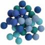 Felt Balls Wool 20mm Ass. Blue Shades - 30 pcs