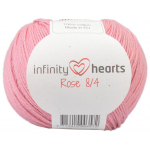 Infinity Hearts Rose 8/4 Yarn Unicolor 27 Light Old Pink