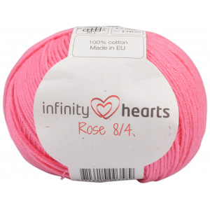 Infinity Hearts Rose 8/4 Yarn Unicolor 33 Pink