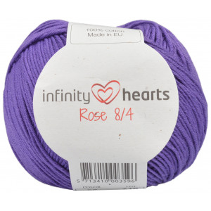 Infinity Hearts Rose 8/4 Yarn Unicolor 56 Dark Purple