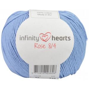 Infinity Hearts Rose 8/4 Yarn Unicolor 92 Light Denim Blue
