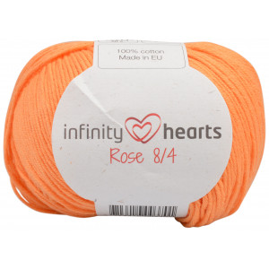 Infinity Hearts Rose 8/4 Yarn Unicolor 192 Light Orange