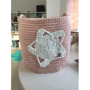 Basket with Star Crochet Kit by Rito Krea
