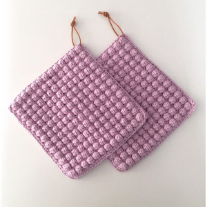 Bobbles Pot Holders Crochet Kit by Rito Krea