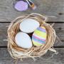 12 Silky Matt Plastic Eggs White 6cm - 12 pcs