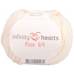 Infinity Hearts Rose 8/4 Yarn Unicolor 172 Off White