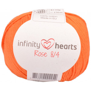 Infinity Hearts Rose 8/4 Yarn Unicolor 193 Orange