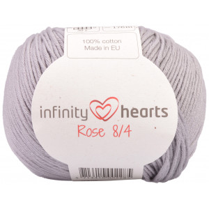 Infinity Hearts Rose 8/4 Yarn Unicolor 232 Light Grey