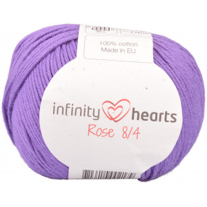 Infinity Hearts Rose 8/4 Yarn Unicolor 69 Purple
