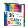 Staedtler Triplus Fineliner Markers Ass. colours 0.3mm - 36 pcs