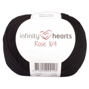 Infinity Hearts Rose 8/4 Yarn Unicolor 01 Black