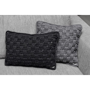 Basketweave Pillows 30x50cm and 40x40cm Crochet Kit by Rito Krea