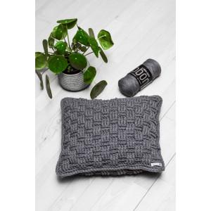 Basketweave Pillow 40x40cm Crochet Kit by Rito Krea