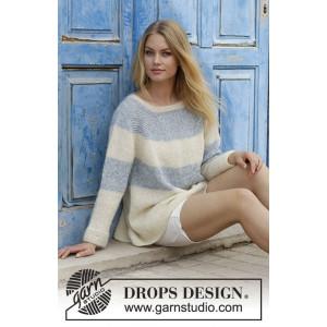 Sailor's Luckby DROPS Design - Bluse Strikkeopskrift str. S _ XXXL