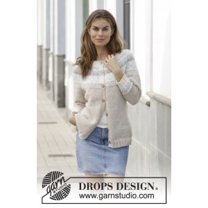 Nougat Cardigan by DROPS Design - Jacket Knitting Pattern str. S - XXXL