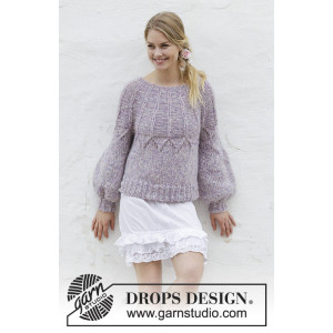 Fair Lily by DROPS Design - Sweater Knitting Pattern Size S - XXXL