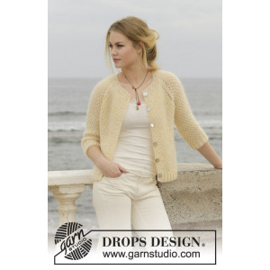 Le Conquet by DROPS Design - Jacket Knitting pattern size XS - XXXL