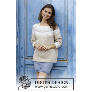 Nougat by DROPS Design - Blouse Pattern size S - XXXL