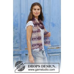 Pivoine by DROPS Design - Stola Crochet pattern 170x30 cm